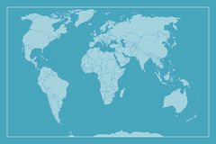Hohe Detail-Weltkarte Stockfoto