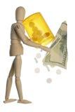 Hohe Droge setzt für Preis Konzept fest Stockbild