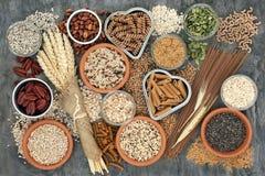 Hohe Faser-gesundes Lebensmittel lizenzfreie stockfotografie