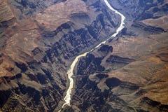 Hohe Flussschlucht Stockfotografie