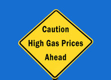 Hohe Gaspreise Lizenzfreies Stockbild