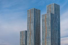 Hohe Gebäude in Astana Stockfoto