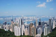 Hohe Gebäude in Hong Kong Stockfotografie