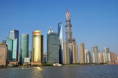 Hohe Gebäude in Pudong stockfotografie
