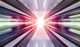 Hohe Geschwindigkeit in der U-Bahn lizenzfreie stockfotos