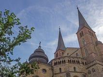 Hohe Kathedrale von St Peter im Trier Stockfoto