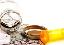 Hohe Kosten Gesundheitspflege Stockfotos