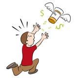 Hohe Kosten-verschreibungspflichtige Medikamente Stockbild