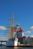 Hohe Lieferung im Gothenburg-Hafen Lizenzfreie Stockfotos