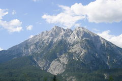 Hohe Munde with Telfs in Tyrol Royalty Free Stock Image