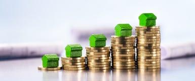 Hohe Preise für Immobilien stockbild