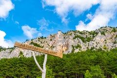 Hohe różdżki skały twarze, Niski Austria, Gutenstein Alps, Austria fotografia royalty free