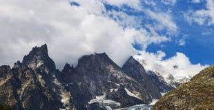 Hohe Spitzen der italienischen Alpen Stockbild