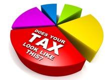 Hohe Steuer Stockbild