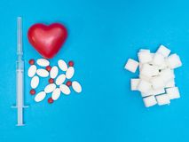 Hohe Stufe des Zuckers in der Blutursachen-Herzkrankheit lizenzfreies stockbild