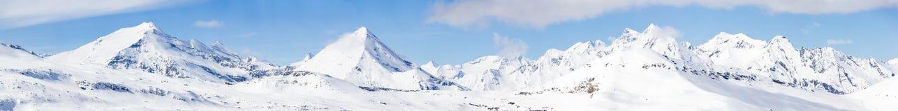Hohe Tauern的多雪的山峰 图库摄影