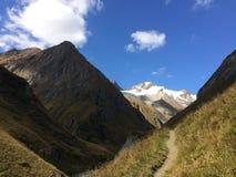 Hohe Tauern,山, Osttirol阿尔卑斯 免版税库存照片