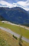 Hohe Tauern met Grossglockner Alpenstrasse stock foto's
