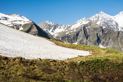 Hohe Tauern Mountain Range in Spring Stock Photos