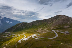 Hohe Tauern National Park - a winding road Stock Image