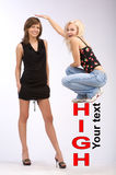 Hohe und kurze Person Stockfoto