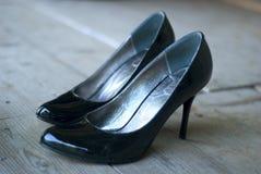 Hohe verfolgte Schuhe Lizenzfreies Stockfoto