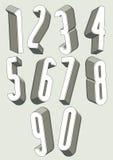 hohe verkürzte Zahlen 3d eingestellt Stockfotografie
