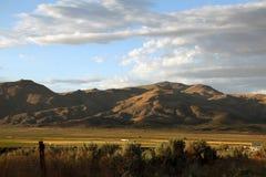 Hohe Wüste am Abend Stockfoto