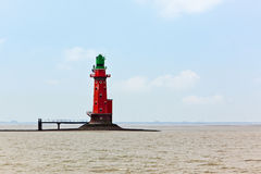 Hohe Weg lighthouse Royalty Free Stock Photography