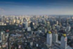 Hohe Winkelsicht Bangkoks - verwischen Sie Fotohintergrund Stockbild