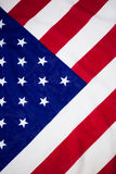 Hohe Winkelsicht der Staatsflagge Stockfotografie