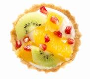Hohe Winkelsicht des Fruchtt?rtchens in einer Platte lizenzfreie stockfotos