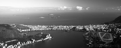 Lagoa Rodrigo de Freitas in Rio de Janeiro Stockfoto