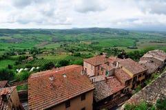 Hohe Winkelsicht von Toskana-Hügeln Lizenzfreie Stockbilder