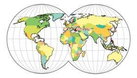 In hohem Grade ausführliche Karte der Welt vektor abbildung