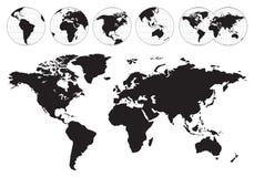 In hohem Grade ausführliche Weltkarten Stockfotografie