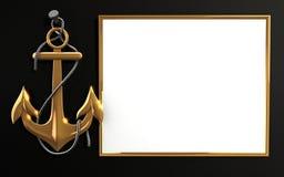 anker des gold 3d mit kette stock abbildung illustration von ausr stung abbildung 41677253. Black Bedroom Furniture Sets. Home Design Ideas