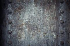 In hohem Grade ausführliches Bild des Schmutzmetallhintergrundes Stockbilder