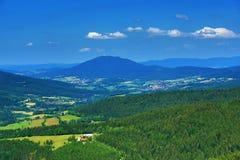 Hohen Bogen is een berg van Beieren, Duitsland Stock Foto's