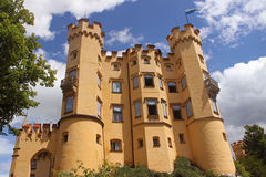 Hohen Schwangau Castle. View of Hohen Schwangau Castle from the courtyard Royalty Free Stock Images