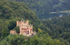 Hohen Schwangau en Alpsee-Meer Royalty-vrije Stock Afbeelding