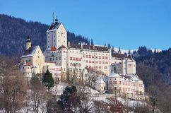 Hohenaschau castle. In Bavaria in winter Royalty Free Stock Images
