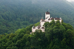 Hohenaschau castle, Bavaria, Germany. A picture of Hohenaschau castle taken from the canle car, Bavaria, Germany Stock Photo