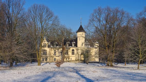 Hohenbocka castle in winter Royalty Free Stock Image
