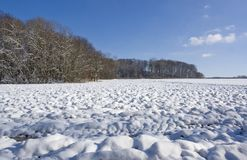 Hohenlohe at winter time Royalty Free Stock Image