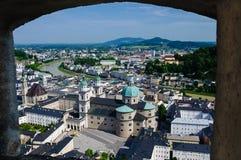 Hohensalzburg城堡,萨尔茨堡,奥地利 库存照片