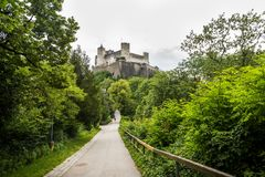 Hohensalzburg堡垒 萨尔茨堡 奥地利 免版税库存照片