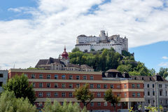 Hohensalzburg lizenzfreie stockbilder