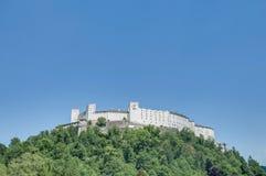 Hohensalzburg Castle (Festung Hohensalzburg) at Salzburg, Austri Stock Photography