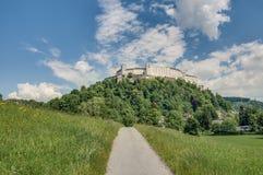 Hohensalzburg Castle (Festung Hohensalzburg) at Salzburg, Austri Royalty Free Stock Images
